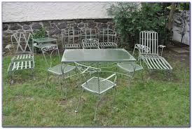 Old Metal Patio Furniture Vintage Metal Bouncy Lawn Chair Like This Item Gorgeous Project