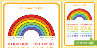number bonds to 100 rainbow numbers adding maths early