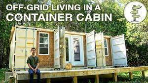 living off grid in a self built 20ft shipping container mobile