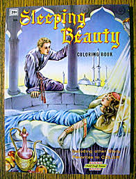 sleeping beauty coloring book 1960 u0027s bonnie books coloring
