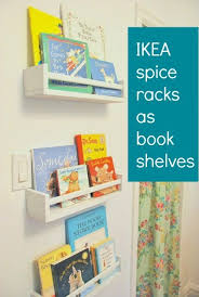 How To Build A Wall Mounted Bookcase How To Use Ikea Spice Racks For Books Or The Easiest Diy Wall