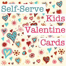 kids valentines day cards kids ideas how to set up a self serve card station