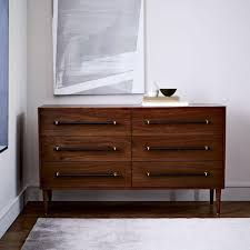 Dark Brown Changing Table by Benson 6 Drawer Dresser Dark Walnut West Elm Au