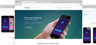 small apps free app landing page template free bootstrap