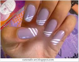cutenails art lacey lilac nail art step by step