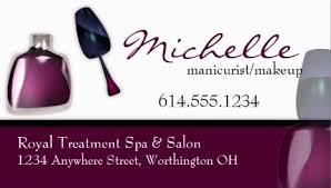 freelance makeup artist business card manicurist and nail salon business cards girly business cards