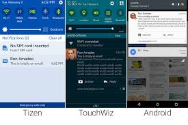 tizen vs android tizen touchwiz and android lollipop go to in pictures