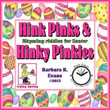 critical thinking easter hink pinks hinky pinkies by barbara