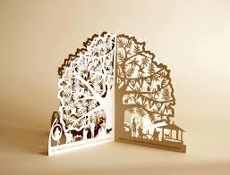 banyan tree restaurant invite paper art and laser cut