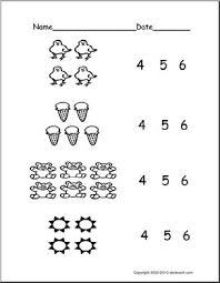 count groups of objects 4 6 ver 1 pre k primary worksheet