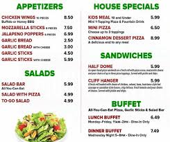 Mountain Mikes Pizza Buffet by Mountain Mike U0027s Pizza Menu Urbanspoon Zomato