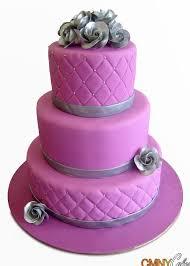 fuschia and silver wedding cake cmny cakes