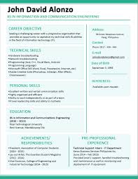 Fresher Resume Objective Examples by Curriculum Vitae Cv Template Free Downloads Electrical Engineer