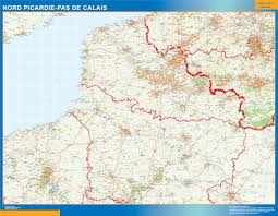 Calais France Map by World Wall Maps Store Picardie Pas Calais Map More Than 10 000