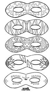 color in masks free printable coloring for adults and kids