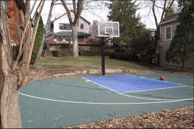Backyard Basketball Court How To Make A Diy Backyard Basketball Court