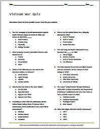 printable organization quiz for students vietnam war quiz free printable student test student handouts