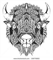 bison mascot head tattoo inspo pinterest bison tattoo and