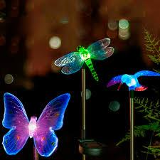 Solar Stake Garden Lights - dragonfly solar garden stakes home outdoor decoration