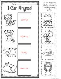 printable rhyming words words for learners 10 cut paste rhyming printables