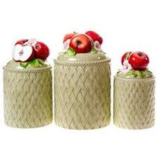 apple canisters for the kitchen vintage apple canister metal kitchen by treasureobsessed an