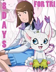 8 days hikari and tailmon by deko kun on deviantart