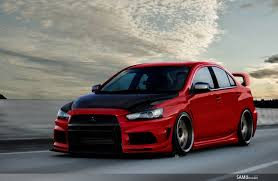 mitsubishi evo red mitsubishi lancer evolution by samuvt on deviantart