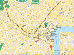 New Orleans On Map New Orleans Subway Map Travel Map Vacations Travelsfinders Com