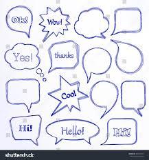 set hand drawn speech bubbles vector stock vector 246732973