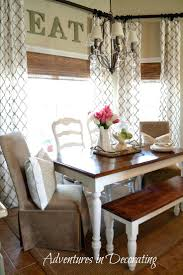 ergonomic dining room window treatments for bay windows in dining