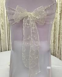 chair sashes for weddings 10 colors 10pcs lot organza embroidery chair sash wedding event
