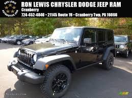 jeep willys 2016 2016 black jeep wrangler unlimited willys wheeler 4x4 107761790