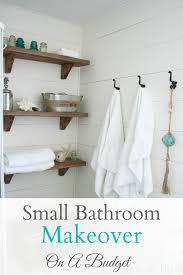 Tiny Bathroom Makeovers - small budget bathroom makeover
