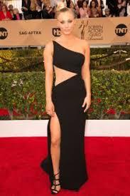 celebrity black one shoulder dresses red carpet black one