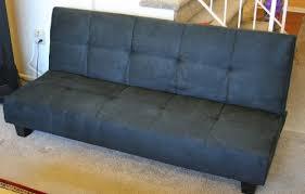 Klik Klak Sofa Bed Black Microfiber With Adjustable Back Klik Klak Sofa Futon Bed