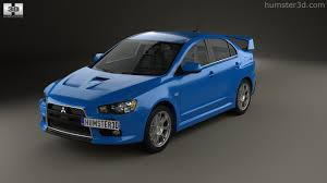 lancer mitsubishi 2009 360 view of mitsubishi lancer evolution x 3d model hum3d store