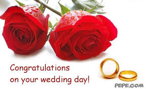 wedding day congratulations congratulations on your wedding day greeting card on pepe