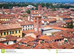 Lucca Italy Map by Aerial View Of Lucca Stock Photo Image 64676316