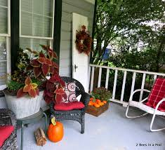 porch front porch fall decor blogging tour 2 bees in a pod