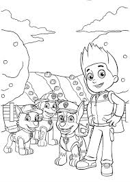 ryder paw patrol coloring pages coloringstar
