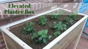 elevated planter box youtube