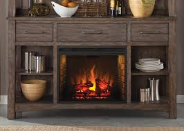 liberty furniture stone brook rustic buffet with fireplace
