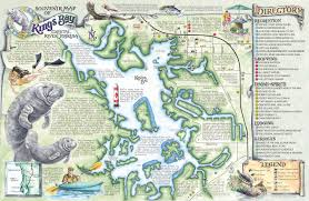 Tampa Florida Usa Map by Crystal River U0027s Spring Maps The Souvenir Map U0026 Guide Of Kings