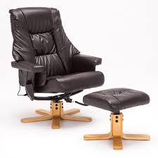 Leather Armchair With Ottoman Amazon Com Sgs Leather Massage Recliner Chair With Ottoman Set