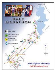 Marathon Route Map by Event Info U2013 Big D Marathon