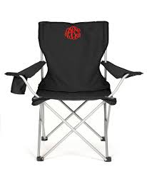 Campimg Chairs Monogrammed Folding Chair Camping Tailgating Ballgame
