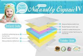 la baby crib mattresses l a baby naturally organic iv triple