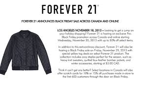 forever 21 black friday top 10 canadian black friday deals