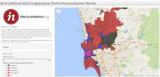 Election Map Results by 2014 California 52nd Congressional District Primary Election