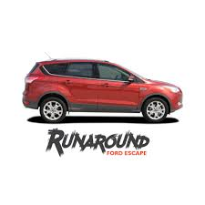 Ford Escape 2013 - ford escape runaround upper body line vinyl graphics decal stripe